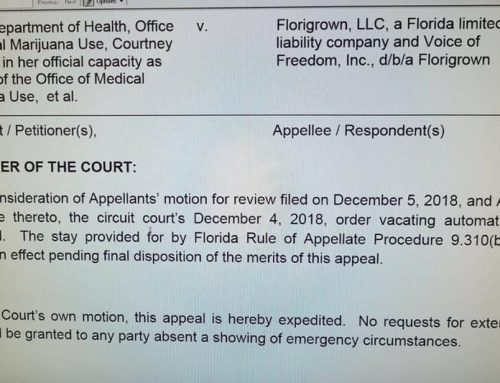 UPDATE: Florigrown v. State of Florida